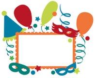Quadro do convite do carnaval Fotografia de Stock