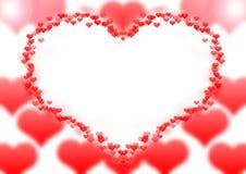 Quadro do coração Fotografia de Stock