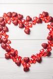 Quadro do coração no branco Fotos de Stock Royalty Free