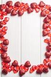 Quadro do coração no branco Fotografia de Stock Royalty Free