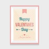 Quadro do dia de Valentim Imagem de Stock Royalty Free