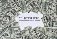 Quadro do dinheiro Fotos de Stock