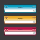 Quadro do elemento do design web Foto de Stock Royalty Free