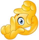 Quadro do emoticon dos dedos Fotografia de Stock Royalty Free