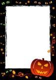 Quadro do feriado no tema Dia das Bruxas com campo para o texto Foto de Stock