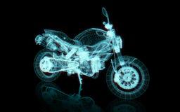 Quadro do fio da motocicleta ilustração do vetor