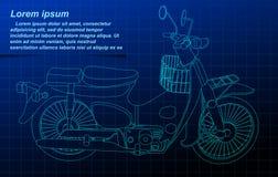 Quadro do fio da motocicleta ilustração stock
