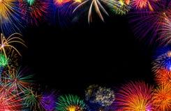 Quadro do fogo de artifício Fotografia de Stock Royalty Free