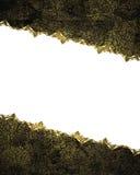 Quadro do Grunge com ornamento do ouro Elemento para o projeto Molde para o projeto copie o espaço para o folheto do anúncio ou o Fotografia de Stock Royalty Free