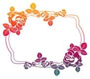 Quadro do inclinação com rosas Clipart da quadriculação Imagem de Stock