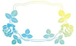 Quadro do inclinação com rosas Clipart da quadriculação Foto de Stock Royalty Free