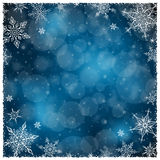 Quadro do inverno do Natal - ilustração Obscuridade do Natal - azul - quadrado vazio do quadro Foto de Stock