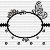 Quadro do laço com borboleta ilustração do vetor