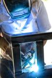 Quadro do metal de soldadura Imagens de Stock Royalty Free