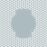 Quadro do molde do vintage em um fundo azul Imagem de Stock Royalty Free