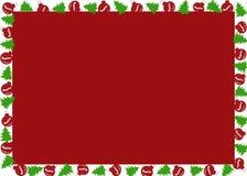 Quadro do Natal com árvores de Natal e globos do Natal Imagens de Stock Royalty Free
