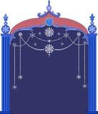 Quadro do Natal com flocos de neve Fotografia de Stock Royalty Free
