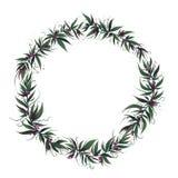 Quadro do Natal com folhas e baga ilustração stock