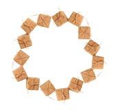 Quadro do Natal das caixas de presente com espaço para o texto Fotos de Stock