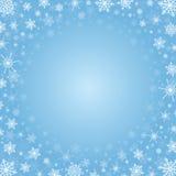 Quadro do Natal feito dos flocos de neve Fotos de Stock