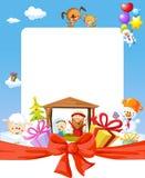 Quadro do Natal - natividade com jesus, Maria e Joseph ilustração stock