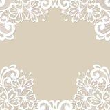 Quadro do ornamento do vetor da flor Fotos de Stock Royalty Free
