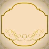 Quadro do ouro Foto de Stock Royalty Free