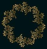 Quadro do ouro da flor Fotos de Stock
