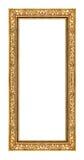 Quadro do ouro do vintage isolado no fundo branco, com trajeto de grampeamento Imagens de Stock Royalty Free
