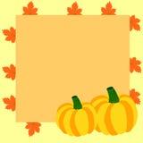 Quadro do outono com abóboras e folhas de bordo Foto de Stock