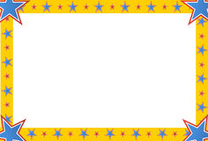 Quadro do quadrado da estrela do circo Fotos de Stock Royalty Free
