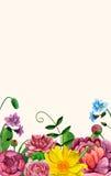 Quadro do ramalhete Arranjo de flores da aquarela Imagem de Stock Royalty Free