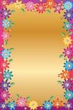 Quadro do sorriso da flor de borboleta da folha dos desenhos animados ilustração do vetor