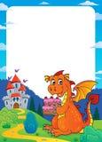Quadro 2 do tema do bolo da terra arrendada do dragão ilustração do vetor
