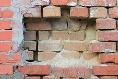 Quadro do tijolo da parede velha com prateleira Imagem de Stock Royalty Free