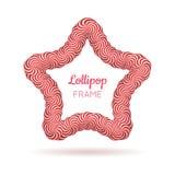 Quadro do vermelho da estrela do pirulito Imagem de Stock Royalty Free