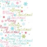 Quadro do vertical do texto do Feliz Natal do vetor Imagem de Stock