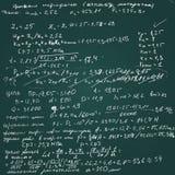 Quadro do vetor com cálculos escritos à mão do esboço Fotos de Stock