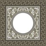 Quadro do vetor do vintage com cores pastel e o EL floral decorativo Imagens de Stock Royalty Free
