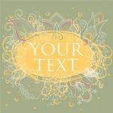 Quadro do vetor no estilo floral Imagem de Stock Royalty Free