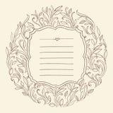Quadro do vintage com folhas Convite para o casamento Fotos de Stock