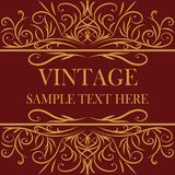 Quadro do vintage com ilustrador Imagem de Stock