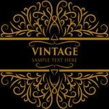 Quadro do vintage com ilustrador Foto de Stock
