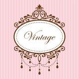 Quadro do vintage do candelabro Foto de Stock
