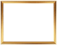 Quadro do vintage do ouro isolado no branco Projeto simples do quadro do ouro Fotografia de Stock