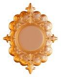 Quadro do vintage do ouro no fundo branco Imagem de Stock