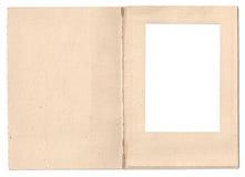 Quadro dobrado da foto do cartão Fotos de Stock Royalty Free
