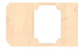Quadro dobrado da foto do cartão Imagem de Stock