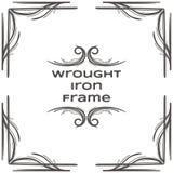 Quadro dois do ferro forjado Imagem de Stock Royalty Free