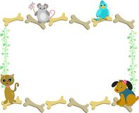 Quadro dos animais de estimação e dos ossos Foto de Stock